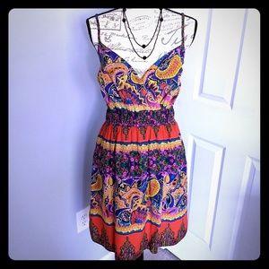 Women's print sundress w/pockets NWOT